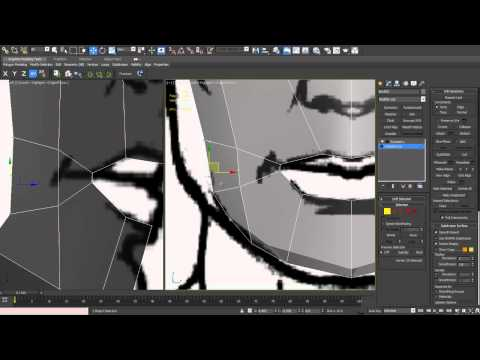 3D Studio MAX - Character Modeling - Part 09 (Mouth)