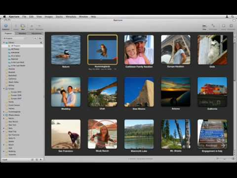 Aperture 2 Tutorials : 2.3.2 - Organize - Searching and Sorting -  Skimming All Projects