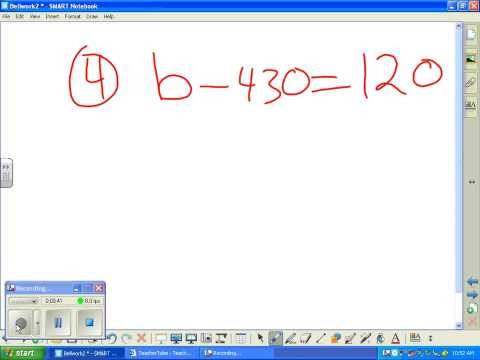 Solving 1step equations Subtraction