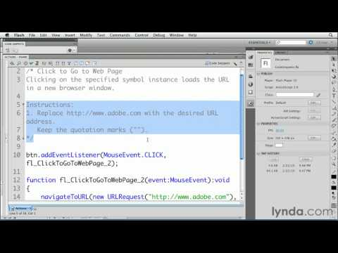 How to work with code snippets in Flash | lynda.com tutorial