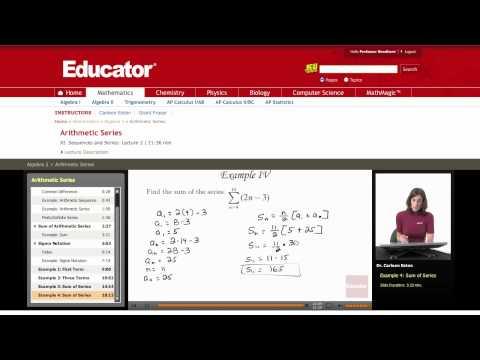 Algebra 2: Arithmetic Series