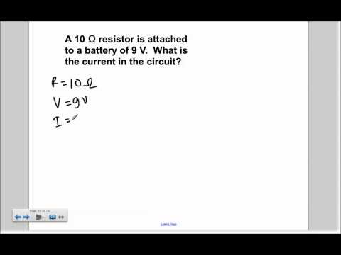 Electric Current and Circuits Presentation #18