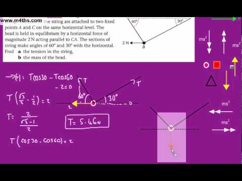 (4) Statics in Equilibrium - M1 Mechanics (threaded bead)