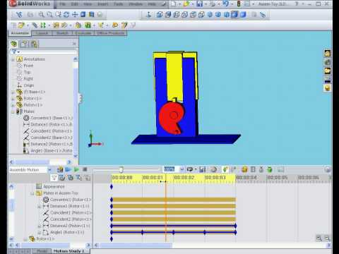 solidworks 2009 tutorial  Animator Motion Study