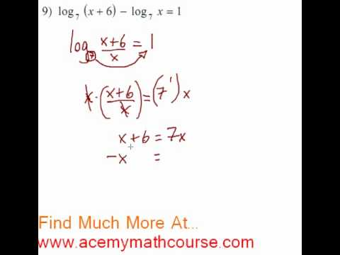 Logarithms - Log Equation #9