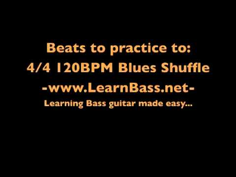 Beats to practice to: 4/4 120BPM Blues shuffle