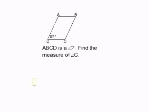 Find a Missing Angle in a Parallelogram I
