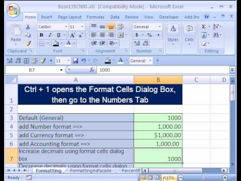 Excel Busn Math 04: The Importance Of Formatting In Math