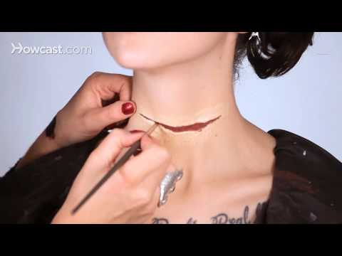 How to Do a Fake Neck Wound, Part 4 | Special Effects Makeup Tutorial