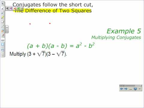 Multiplying Conjugates
