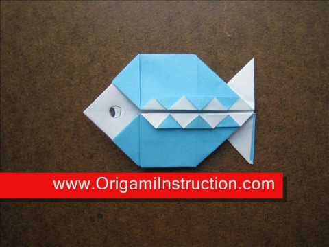 How to Fold Origami Pattern Fish   OrigamiInstruction com
