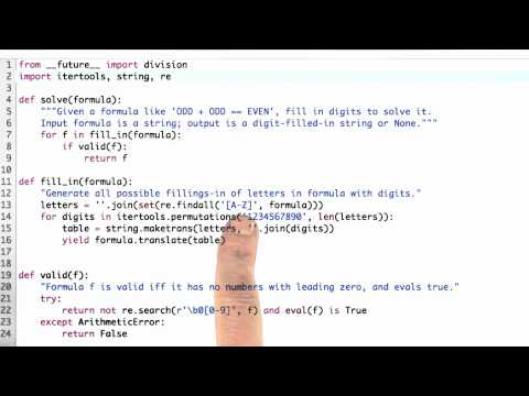 Filling In Fill In Solution - CS212 Unit 2 - Udacity