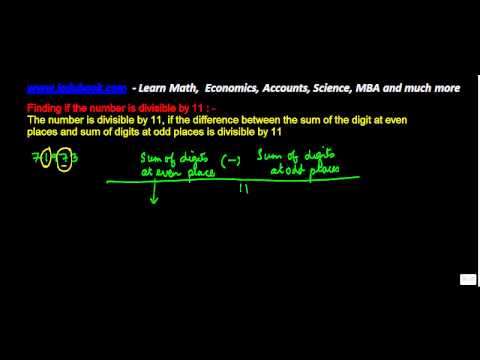 1305. Number system   Finding when number is divisible by 11