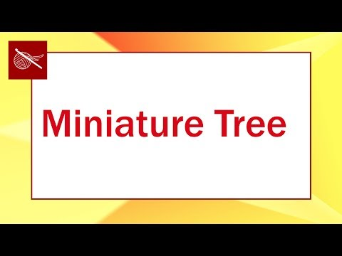 Miniature Holiday Christmas Tree