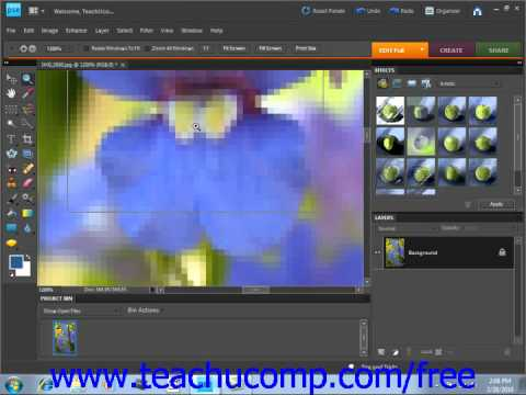 Photoshop Elements 9.0 Tutorial Bitmap Images Adobe Training Lesson 4.1