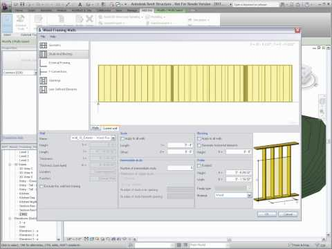 Autodesk Revit Structure 2011 - Wood Framing