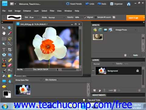 Photoshop Elements 9.0 Tutorial The Clone Stamp Tool Adobe Training Lesson 13.12