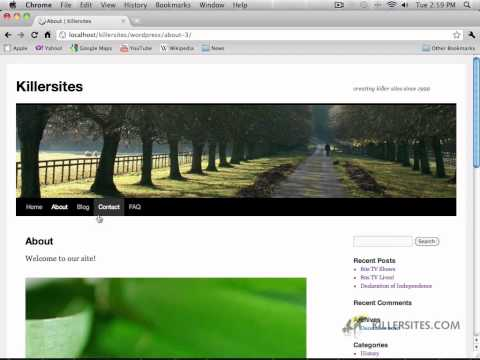 Wordpress Using Dreamweaver - Changing The Home Page