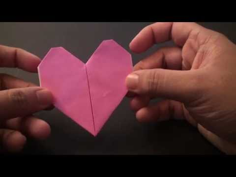 Origami Daily - 157: Easy Heart 02 (Valentine's Day) TCGames [HD]