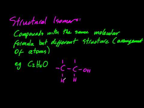 10.1.4 Describe structural isomers, same molecular formula but different structures  IB Chemistry SL