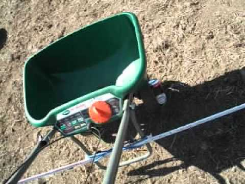 Get better results from a fertilizer or seed spreader