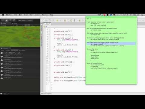 247. Unity3d Tutorial - Mob AI Updates