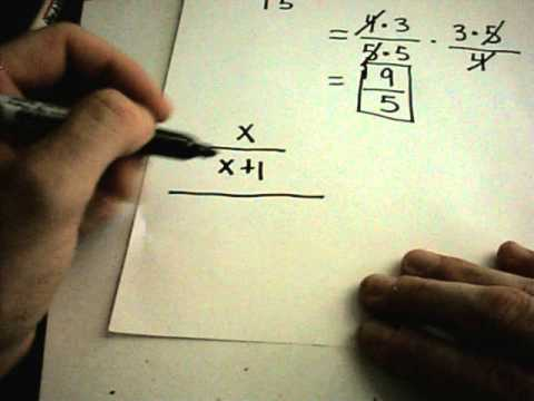 Fractions - Multiplying and Dividing - Numerical and Variable Examples