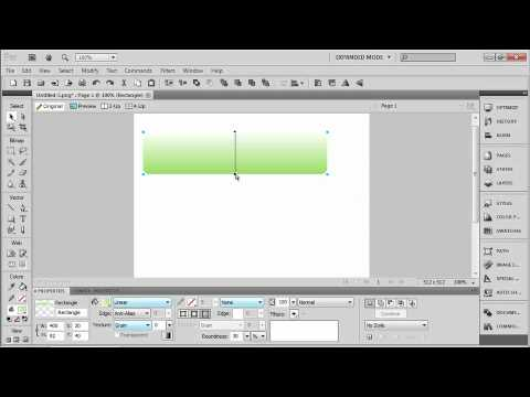 Total Training for Adobe Fireworks CS5 Ch2 L1. Drawing a Shape & Adding a Gradient