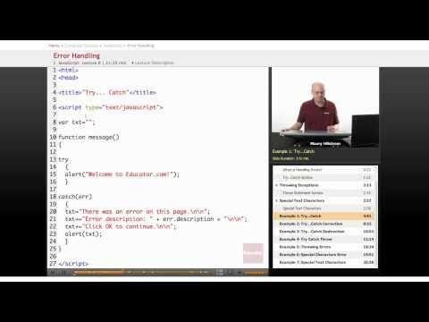 JavaScript: Error Handling