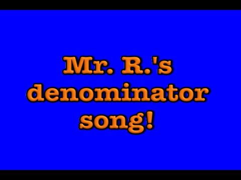 fractions song: denominator
