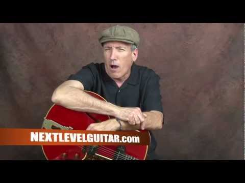 Learn T-Bone Walker inspired Post war Electric Blues guitar chords n rhythms Stormy Monday style