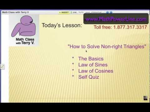 How to Solve Non-right Triangles: the Basics