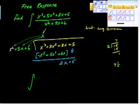 Free Response Integration AP Calculus