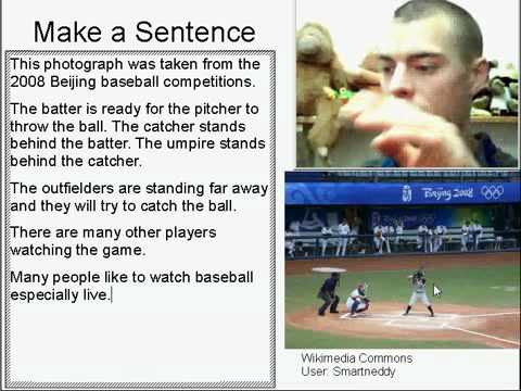 Learn English Make a Sentence and Pronunciation Lesson 42: Baseball Game
