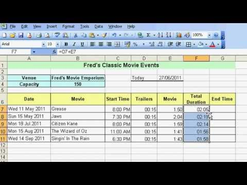 Microsoft Excel Tutorial for Beginners #23 - Date & Time Pt.4 - Time Calculations & Formatting