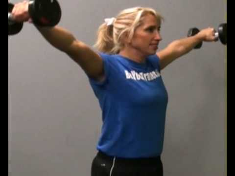 Lateral Raises, Standing, DB : BeYourTrainer.com