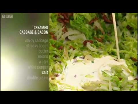 Creamed cabbage and bacon recipe - Gary Rhodes New British Classics - BBC