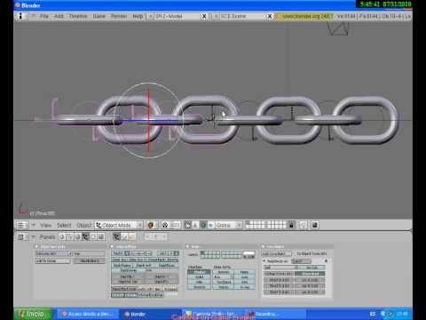 Tutorial cadena realista con  Blender GE - Realistic chain with  Blender GE tutorial