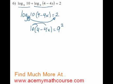 Logarithms - Log Equation #6