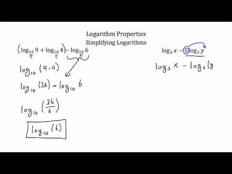 Logarithm Properties-Textbook Tactics