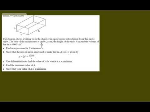 (a) Optimisation Core 2 Example 1 (metal tin) C2 optimization calculus