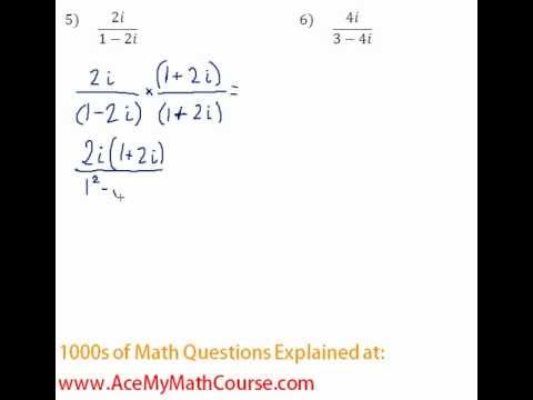 Complex Numbers - Rationalizing #5