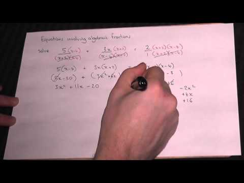 Solving algebraic fractions easily - GCSE A* and AS Maths Revision