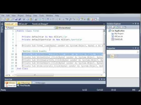 Visual Basic Tutorial - 110 - Car Part 5   Inheritance
