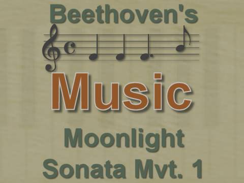 Music: Moonlight Sonata Mvt.1 - Beethoven