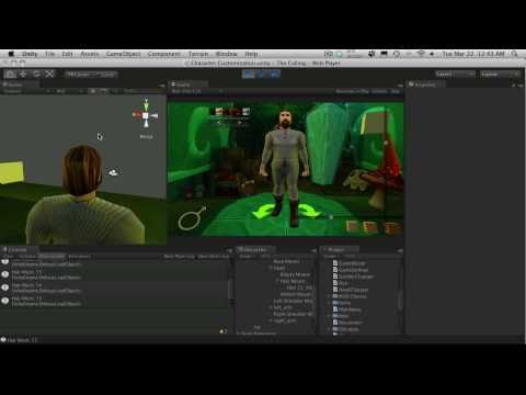 188. Unity3d Tutorial - Character Customization Part 19