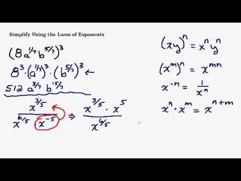 Simplify Fractional Exponents Using the Laws of Exponents Part 3