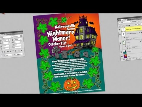 Draw a Halloween Poster - Part 2