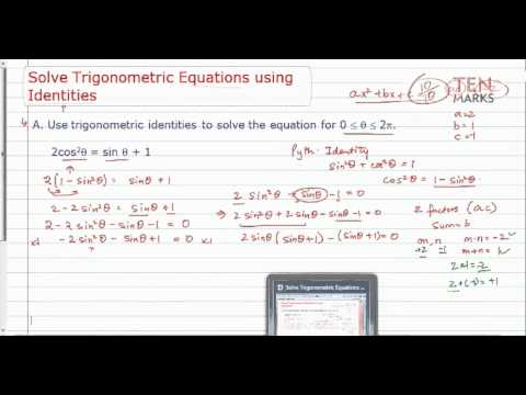 Solve Trigonometric Equations with Trigonometric Identities