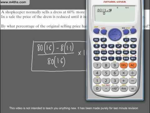 (Q126) A Star GCSE Revision Questions Percentage